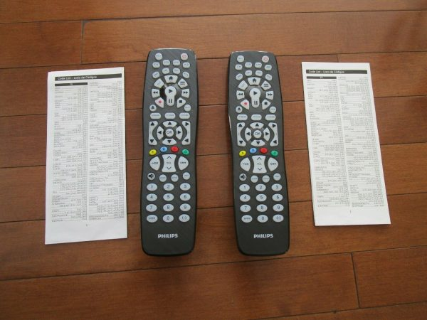Lot of 2 Philips SRP5018 27 8-IN-1 Universal Remote Controls